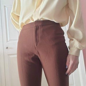 Le Chateau brown high rise pants / trousers 7 - 8